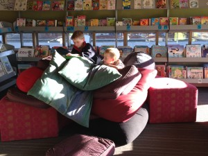 Boys on beanbags